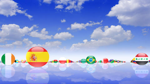 World Flags 3MFcs CG動画