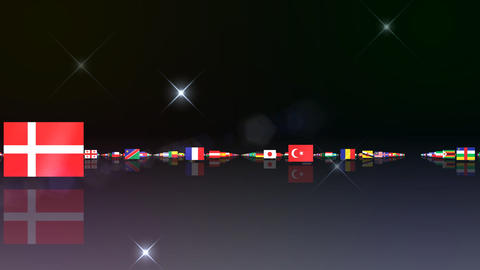 World Flags 3MFsb Stock Video Footage