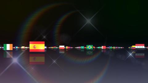 World Flags 3MFsb Stock Video Footage