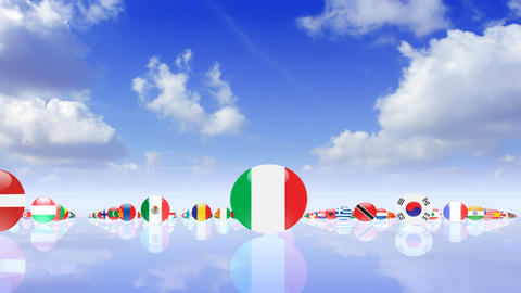 World Flags 3MNcs Stock Video Footage