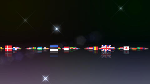 World Flags 3MNsb Stock Video Footage