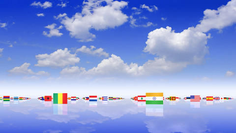 World Flags 3MNss CG動画