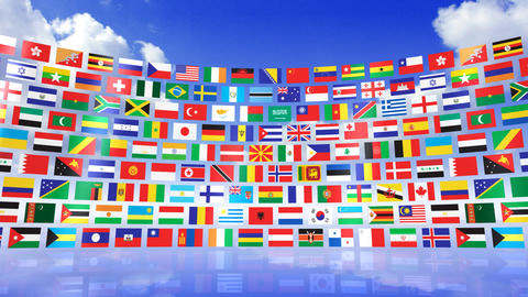 World Flags 3RMbs CG動画