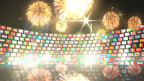 World Flags 3RSbh Stock Video Footage