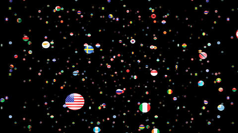 World Flags 3SFcm Stock Video Footage