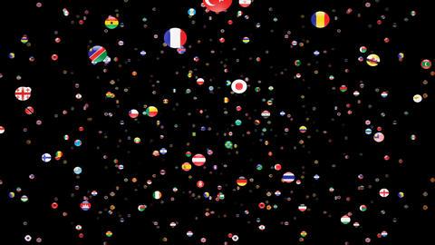 World Flags 3SFcm Stock Video Footage