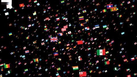 World Flags 3SRbm Stock Video Footage