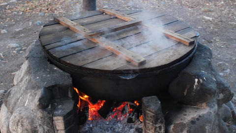 Cauldron-5 Stock Video Footage