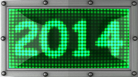 2014 announcement on the LED display Stock Video Footage