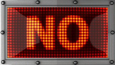 NO announcement on the LED display Stock Video Footage