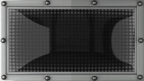 closed announcement on the LED display Animation