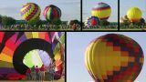 Hot Air Balloon Composite stock footage