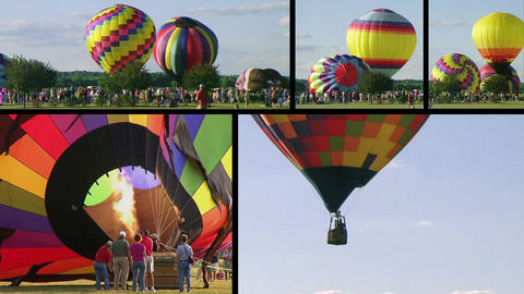 Hot Air Balloon Composite Stock Video Footage