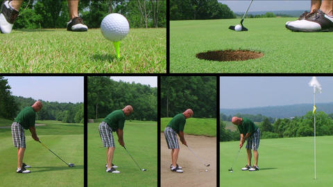 Golf Player Composite Footage
