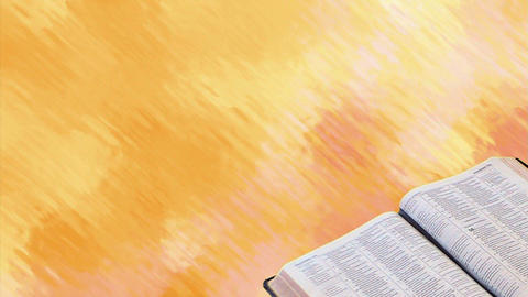 Bible with Motion Background Stock Video Footage