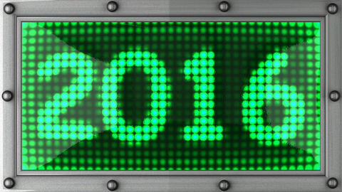 2016 announcement on the LED display Stock Video Footage
