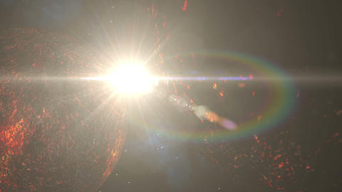 Molten Planets Collide Stock Video Footage
