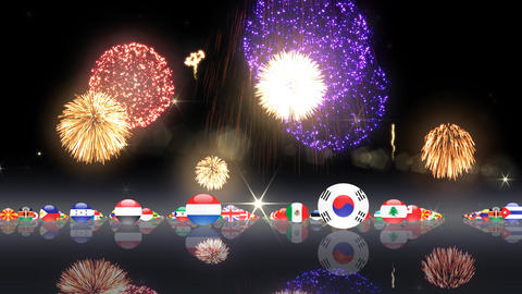 World Flags 3MFch Stock Video Footage