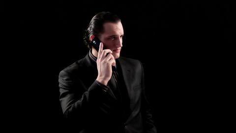 businessman speaking by phone Footage