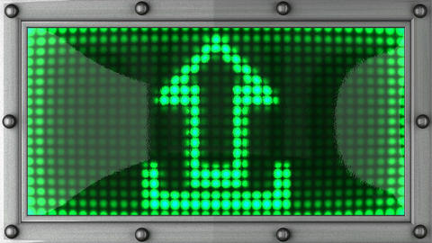 upload announcement on the LED display Animation