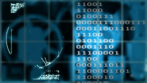Vitruvian Man on the LED display Stock Video Footage