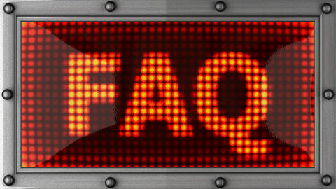 faq announcement on the LED display Animation
