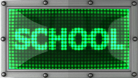 school announcement on the LED display Stock Video Footage