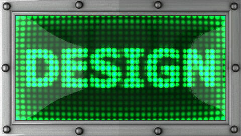 design announcement on the LED display Animation