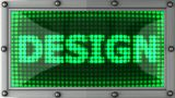Design Announcement On The LED Display stock footage