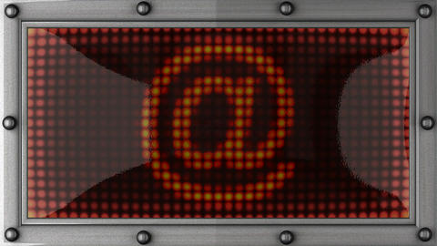 email announcement on the LED display Stock Video Footage