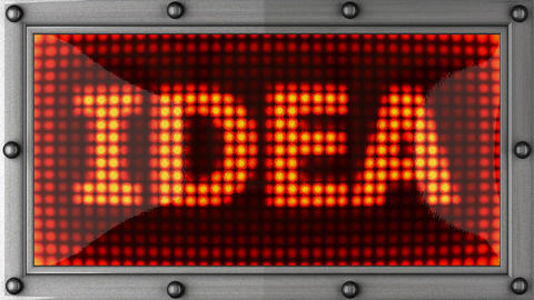 idea announcement on the LED display Stock Video Footage