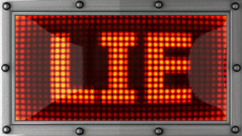 lie announcement on the LED display Stock Video Footage