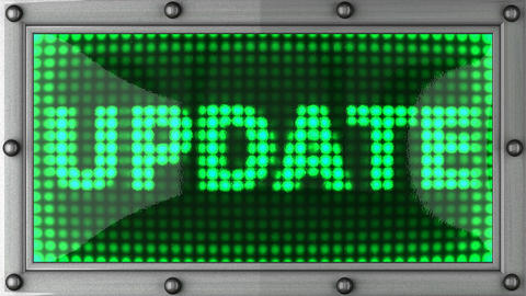 update announcement on the LED display Stock Video Footage