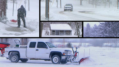 Winter Snow Composite Stock Video Footage