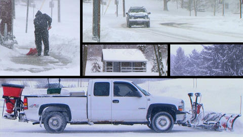 Winter Snow Composite Footage