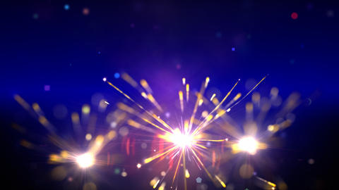 Sparklers loop Stock Video Footage