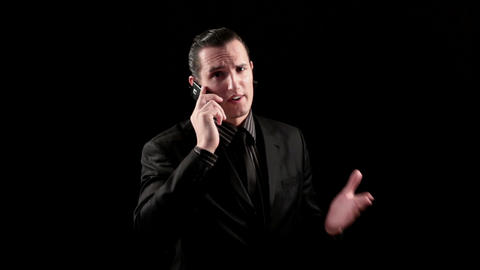 businessman speaking by phone Stock Video Footage