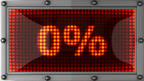 percentage announcement on the LED display Animation