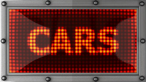 cars announcement on the LED display Stock Video Footage