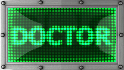 doctor announcement on the LED display Stock Video Footage