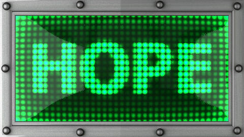 hope announcement on the LED display Animation