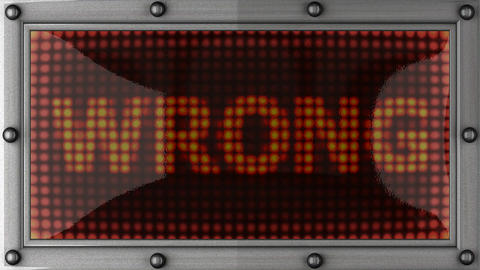 wrong announcement on the LED display Stock Video Footage