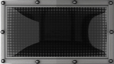 home announcement on the LED display Animation