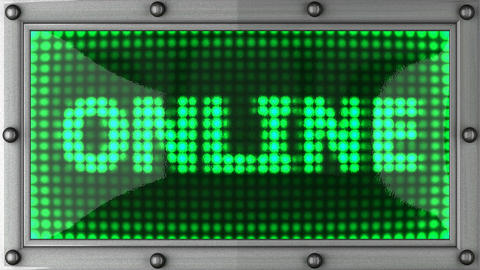 online announcement on the LED display Stock Video Footage