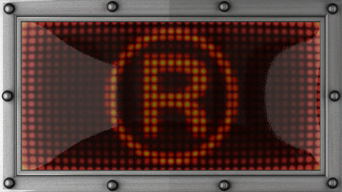 brandname announcement on the LED display Stock Video Footage