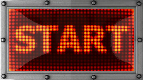 start announcement on the LED display Stock Video Footage