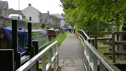 Canal Walk Path stock footage