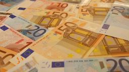 Euro banknotes Footage
