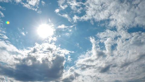 Spectacular Sky Clouds Sun Beautiful Timelapse 4K stock footage