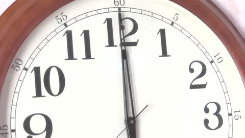 Time 12 O Clock/Clock Ticking stock footage